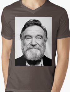 robin williams beard Mens V-Neck T-Shirt
