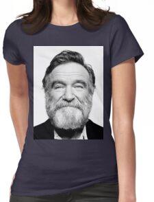 robin williams beard Womens Fitted T-Shirt