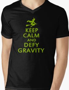 Wicked. Keep Calm And Defy Gravity. Mens V-Neck T-Shirt