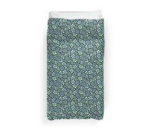 Green seamless flower doodle pattern Duvet Cover
