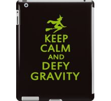 Wicked. Keep Calm And Defy Gravity. iPad Case/Skin