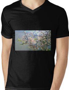 A Unique Floral Mens V-Neck T-Shirt