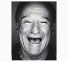 robin williams black and laugh by redmuffinshop