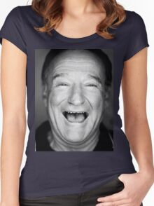robin williams black and laugh Women's Fitted Scoop T-Shirt