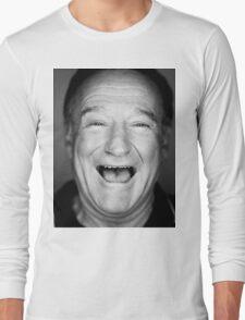 robin williams black and laugh Long Sleeve T-Shirt