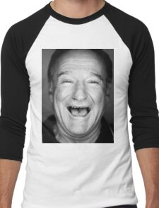 robin williams black and laugh Men's Baseball ¾ T-Shirt