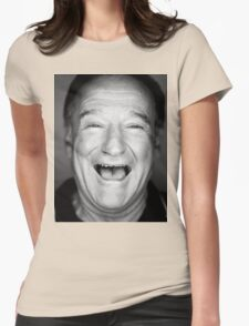 robin williams black and laugh Womens Fitted T-Shirt