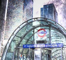 Canary Wharf Station Art by DavidHornchurch