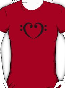 Bass Clef Heart, Music, Musician, Party, Festival, Dance T-Shirt
