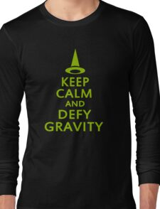 Defy Gravity. Wicked Witch. Long Sleeve T-Shirt