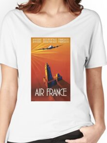 France Vintage Travel Poster Restored Women's Relaxed Fit T-Shirt