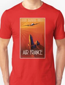 France Vintage Travel Poster Restored Unisex T-Shirt