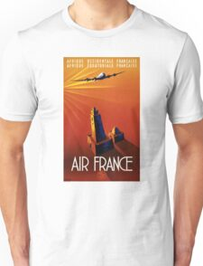 France Vintage Travel Poster Restored Unisex T-Shirt