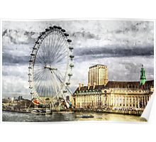 The London Eye Art Poster