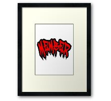 Halloween blood bloody horror members Framed Print