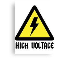 AC/DC High Voltage sign Canvas Print
