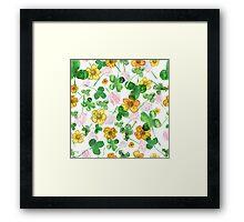 Green history clover Framed Print