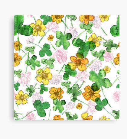 Green history clover Canvas Print