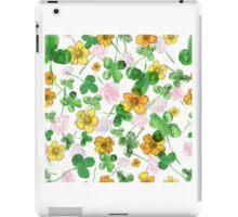 Green history clover iPad Case/Skin