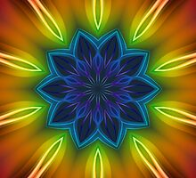 Coloured Rays Kaleidoscope 002 by fantasytripp