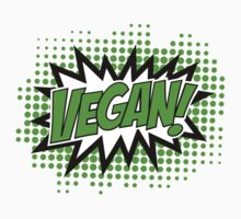Go Vegan, Comic Book Style T-Shirt