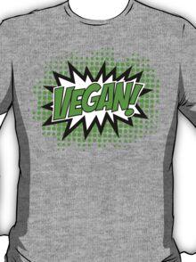 Go Vegan, Comic Book Style T-Shirt