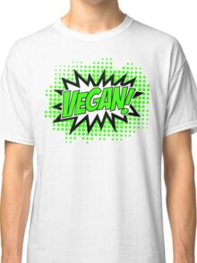 Go Vegan, Comic Book Style Classic T-Shirt