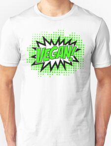 Go Vegan, Comic Book Style Unisex T-Shirt
