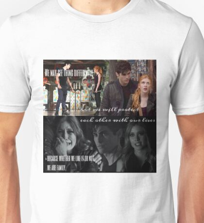 Alec and Clary - Protect our family Unisex T-Shirt