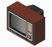 Retro Woodgrain TV Kids Clothes