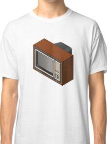 Retro Woodgrain TV Classic T-Shirt