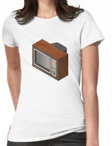 Retro Woodgrain TV Womens Fitted T-Shirt