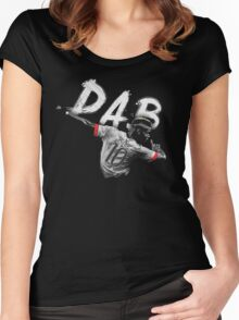 Dab Paul Pogba 10  Women's Fitted Scoop T-Shirt