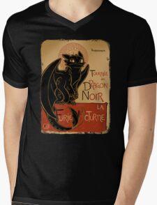 Dragon Noir Mens V-Neck T-Shirt