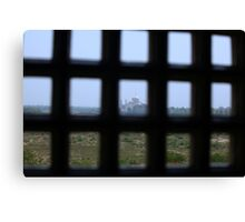 A Prisoners view of the Taj Mahal Canvas Print