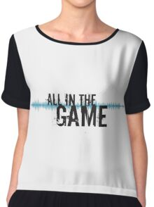 """All in the Game - """"The Wire"""" - Dark Chiffon Top"""