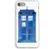Watercolour TARDIS iPhone Case (White) iPhone Case/Skin