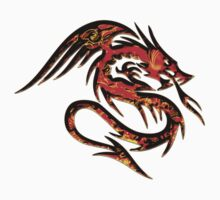 Fire Dragon, Tattoo Style, Fantasy Kids Clothes