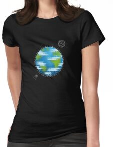Earth Geometric Womens Fitted T-Shirt