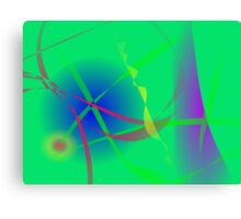 Abstract Green Planet Art Canvas Print