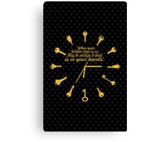 When golden time... Life Inspirational Quote Canvas Print