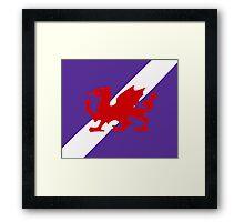 Karia - Wyrmson Flag Framed Print