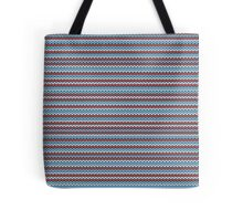 Striped knitting pattern Tote Bag