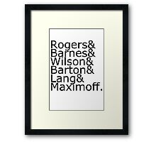 Team Rogers Framed Print