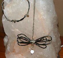 Bound Chaos - Pendant and bracelet by Maree  Clarkson