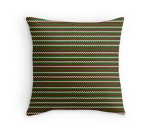 striped christmas knitting pattern Throw Pillow