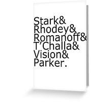 Team Stark Greeting Card