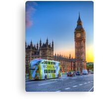 Westminster Bridge Early Evening Canvas Print