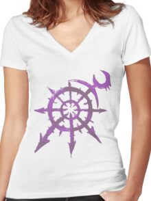 Mark of Chaos - Slaanesh Women's Fitted V-Neck T-Shirt