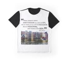 Amsterdam John Green Quote Graphic T-Shirt